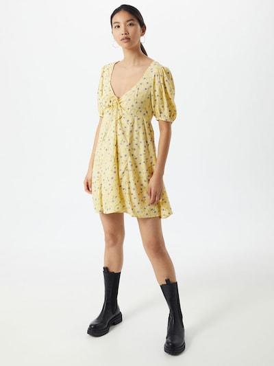 Motel Kleid 'Carie' in gelb / grün / lila, Modelansicht