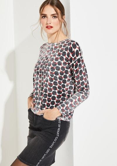 COMMA Pullover in schwarz / weiß, Modelansicht