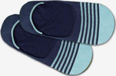 DillySocks Chaussons 'Hidden Water Lines' en bleu, Vue avec produit