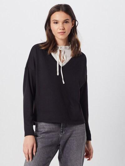 ONLY Sweter 'ASHLEY' w kolorze czarny / białym: Widok z przodu