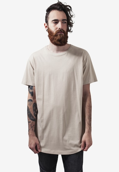 Urban Classics T-Shirt 'Shaped Long Tee' in sand: Frontalansicht