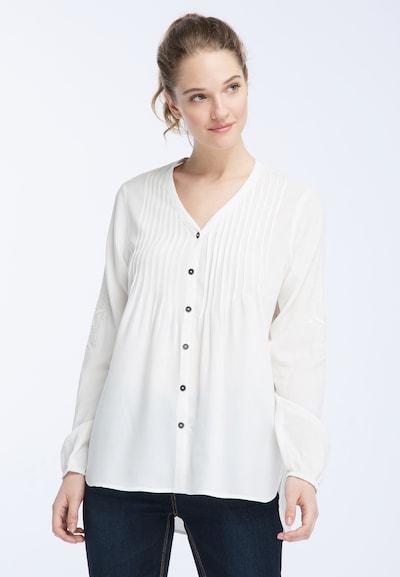DREIMASTER Bluse in weiß, Modelansicht