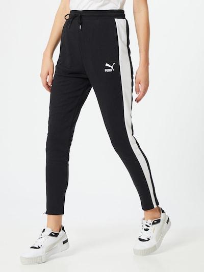 PUMA Spodnie w kolorze czarny / białym, Podgląd na modelu(-ce)