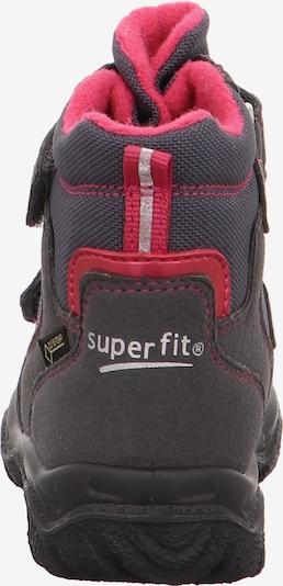 SUPERFIT Schuh in anthrazit / pink: Rückansicht
