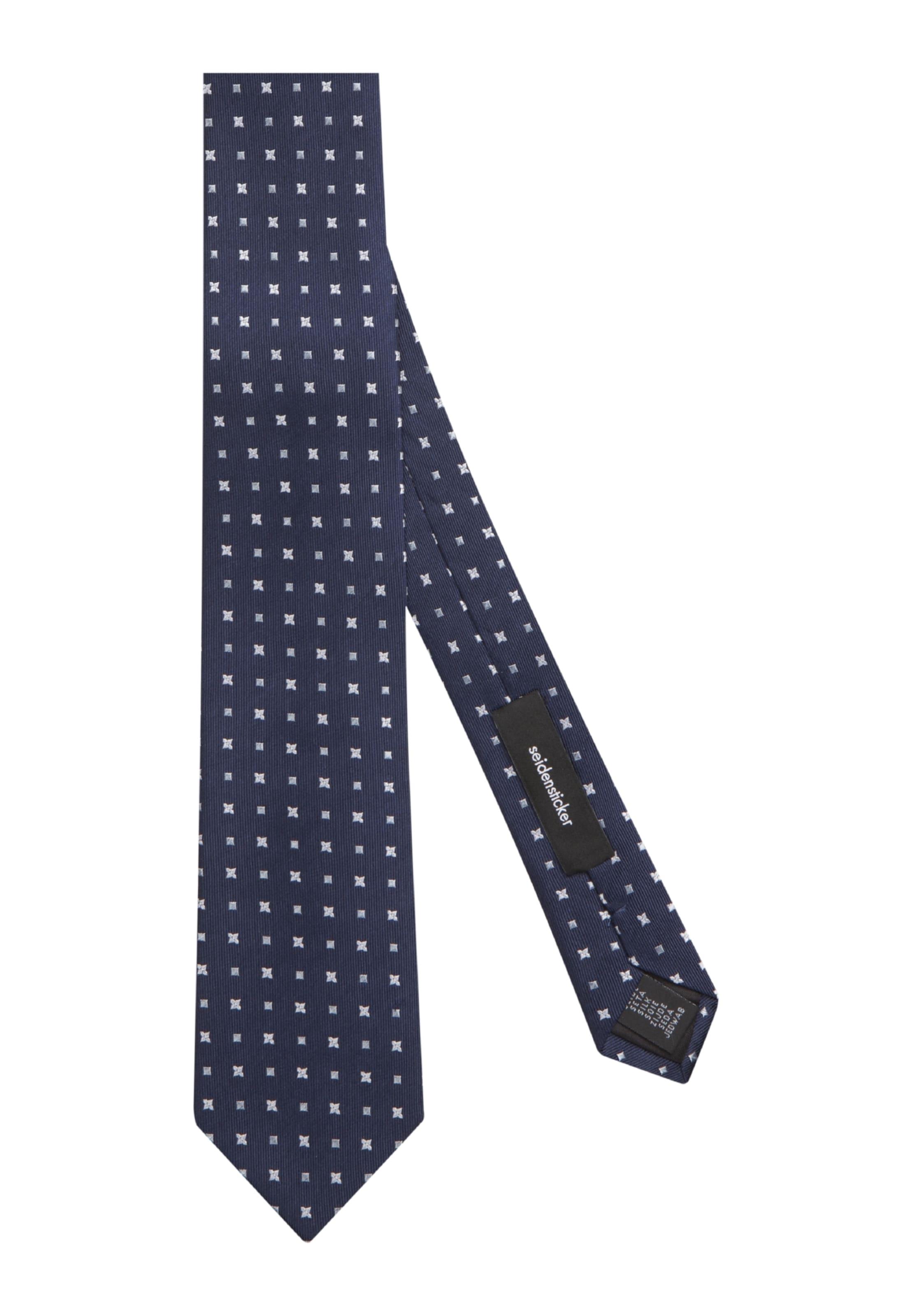 'schwarze In Rose' Seidensticker Krawatte NavyWeiß sQrChdxt