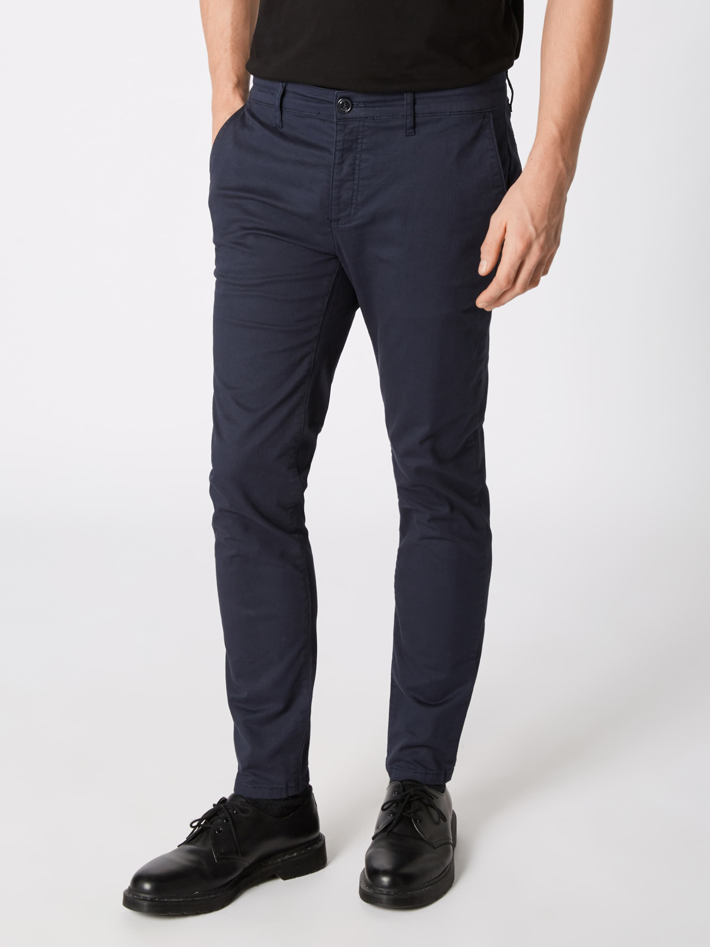One Pantalon Foncé En Pier Chino Bleu PZkiuOTX