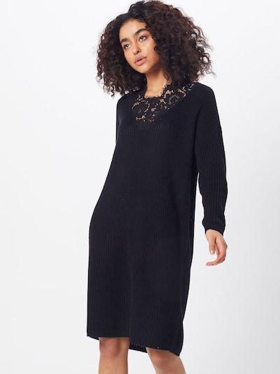 ONLY Sukienka z dzianiny 'ARONA' w kolorze czarnym, Podgląd na modelu(-ce)