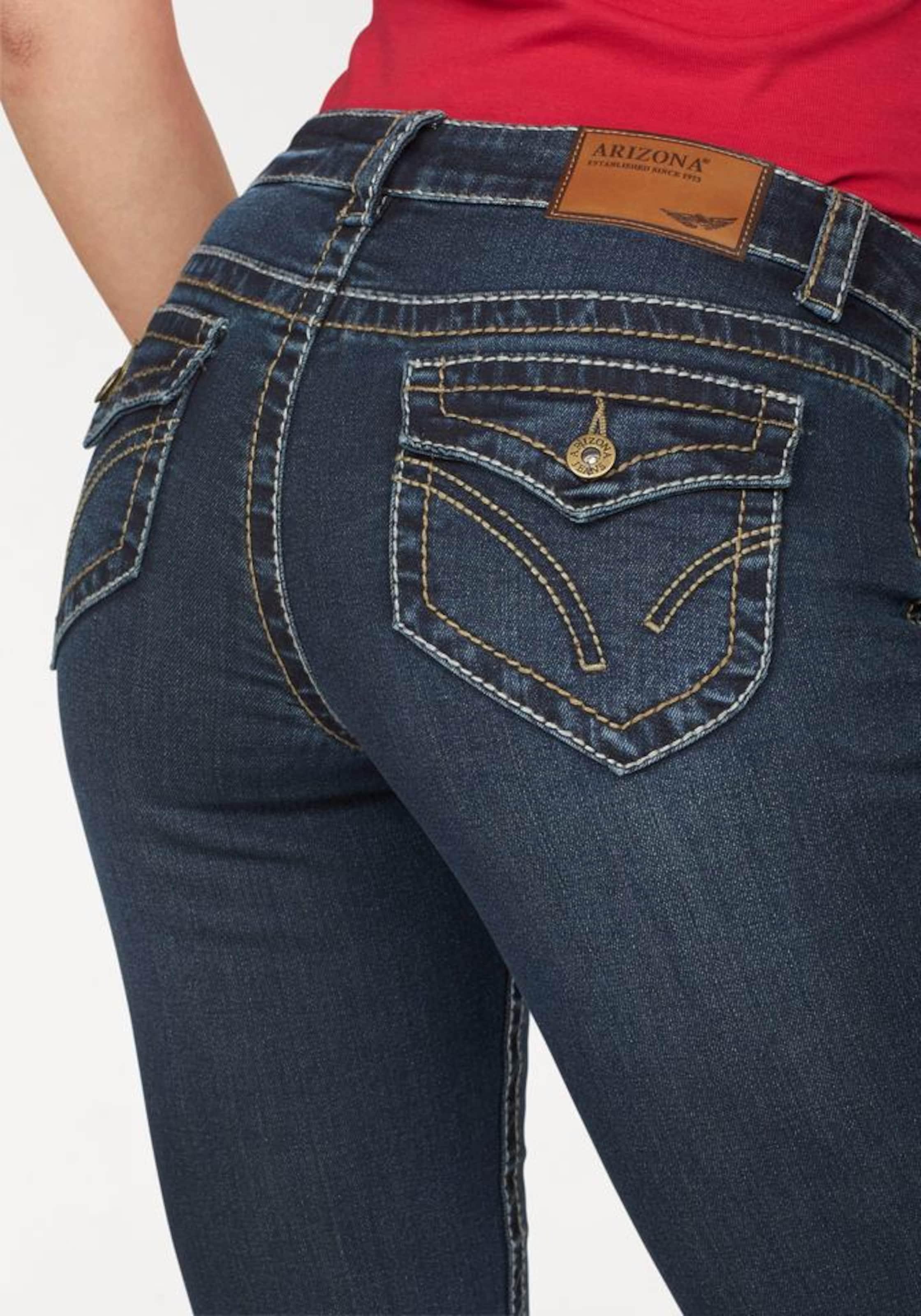 ARIZONA Bootcut-Jeans mit Kontrastnähten und Pattentaschen Auslass Günstiger Preis d3Hntwkw