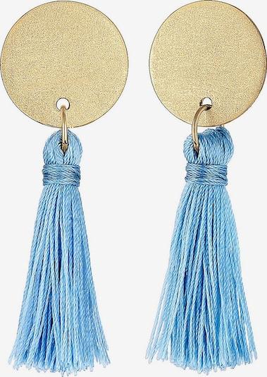 ELLI Boucles d'oreilles en bleu fumé / or: Vue de face