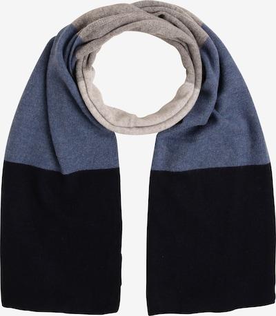 Marie Lund Schal in blau / grau / schwarz, Produktansicht