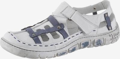 KACPER Sandale in blau / weiß: Frontalansicht
