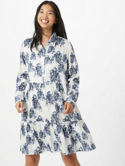 HUGO Košeľové šaty 'Klevia' - tmavomodrá / biela, Model/-ka