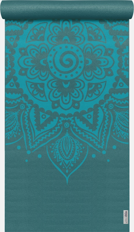 YOGISTAR.COM Yogamatte 'Basic Art Collection Spiral Mandala' in aqua / petrol: Frontalansicht