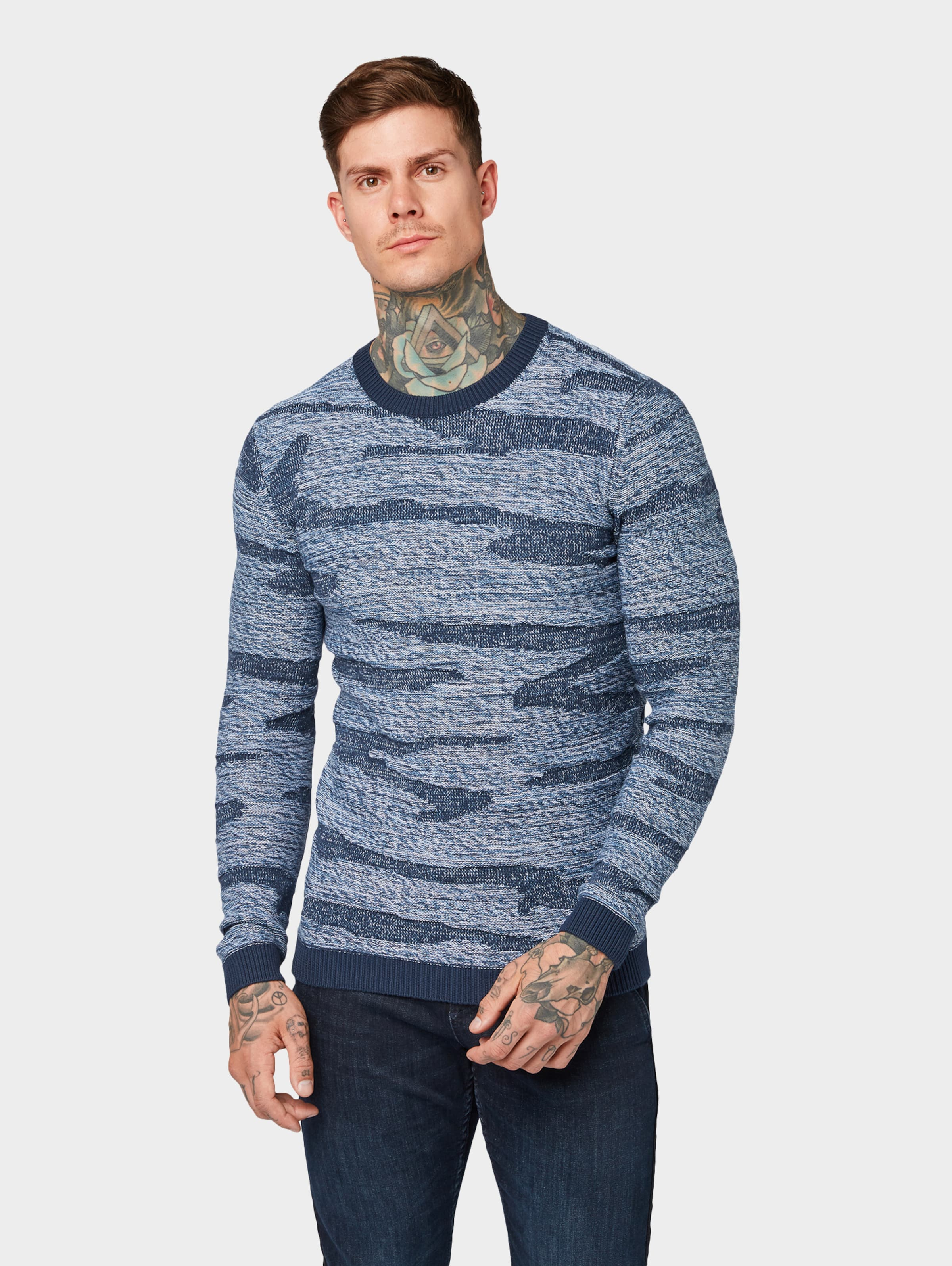 Pullover In Hellblau Tom Denim Tailor f6gybv7Y