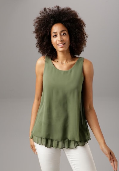 Aniston SELECTED Top in khaki: Frontalansicht