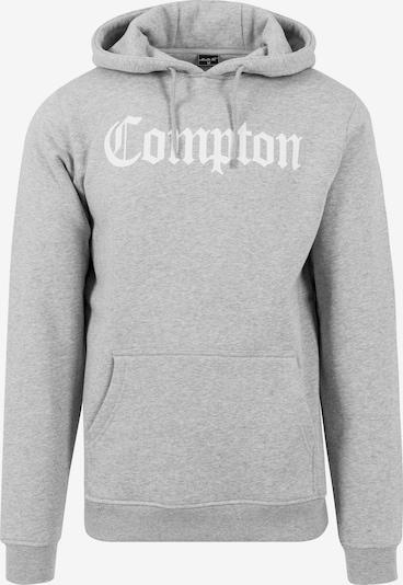 Mister Tee Hoody 'Compton' in graumeliert / weiß: Frontalansicht