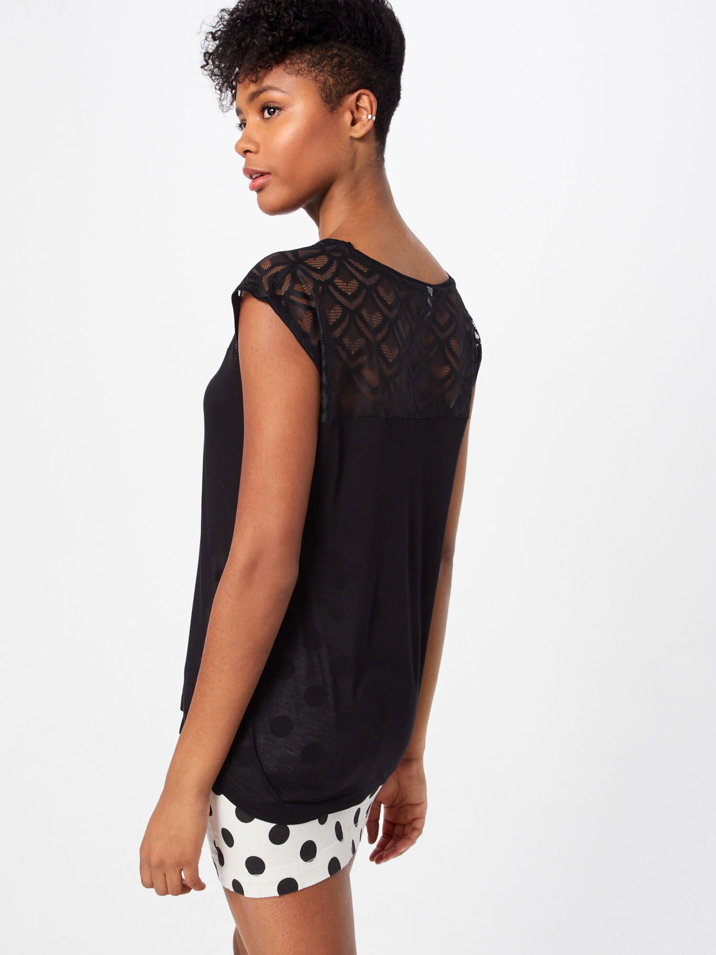 Noir Hailys Juna' T shirt Tp 'ss V En ordBECWxeQ
