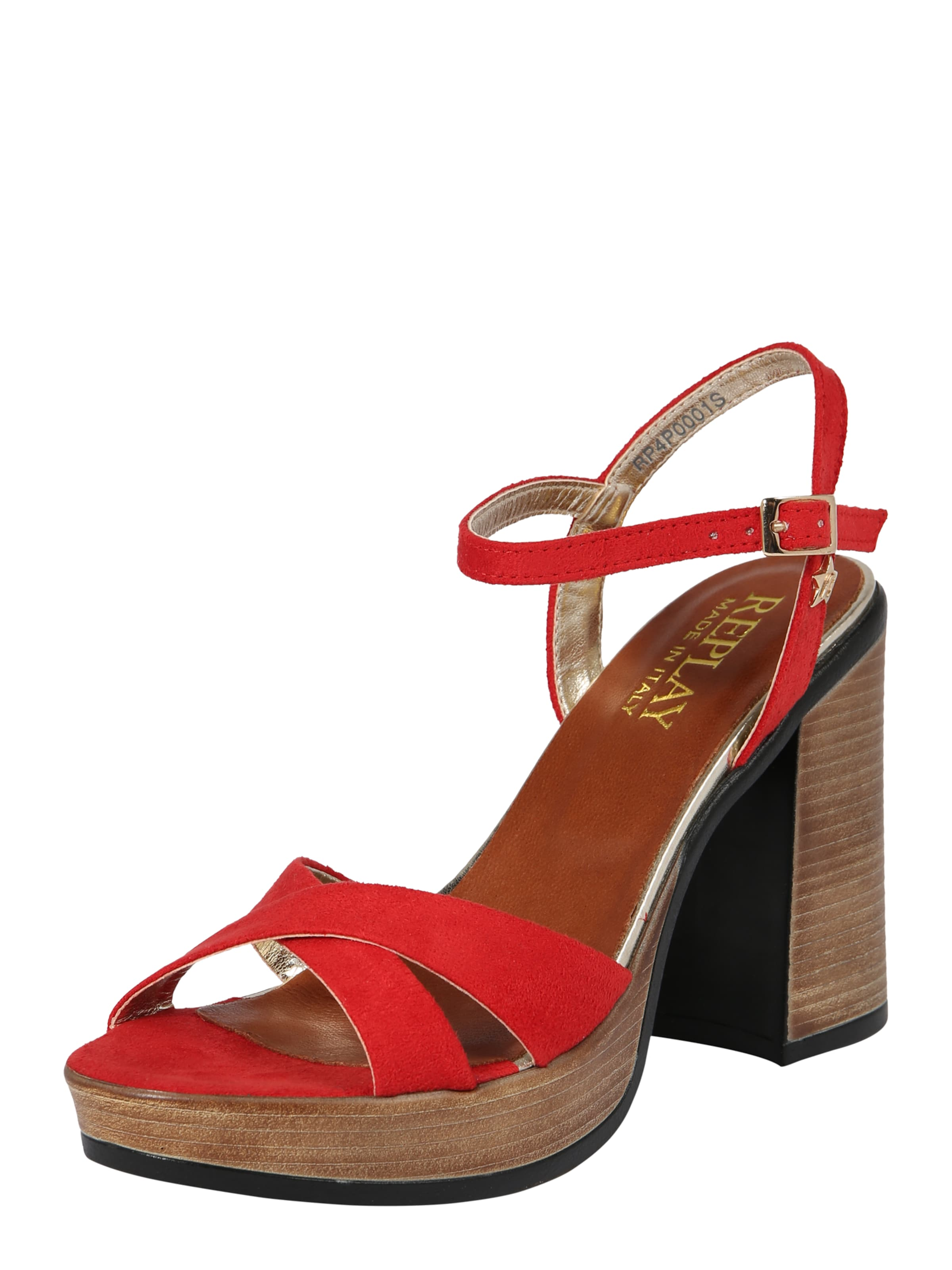 REPLAY Sandalette 'Dessin' in rot