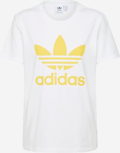ADIDAS ORIGINALS Shirt 'TREFOIL TEE' in gelb / weiß, Produktansicht