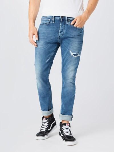 DENHAM Jeans in blue denim: Frontalansicht
