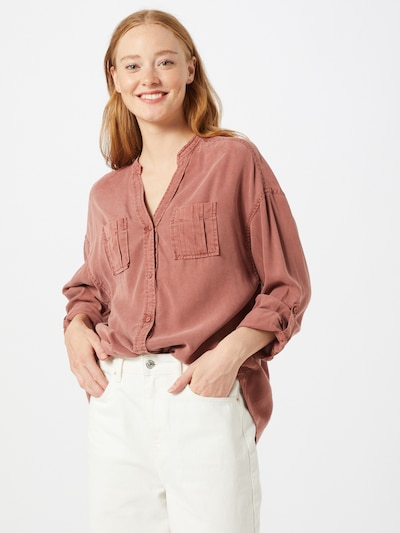 ONLY Bluse 'BERTHA' in pastellrot, Modelansicht