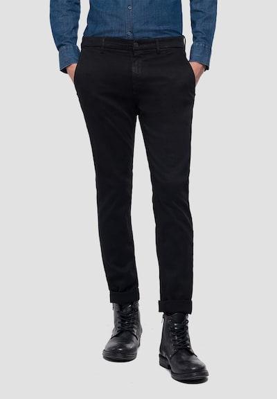 REPLAY Chino 'ZEUMAR HYPERFLEX' in schwarz, Modelansicht