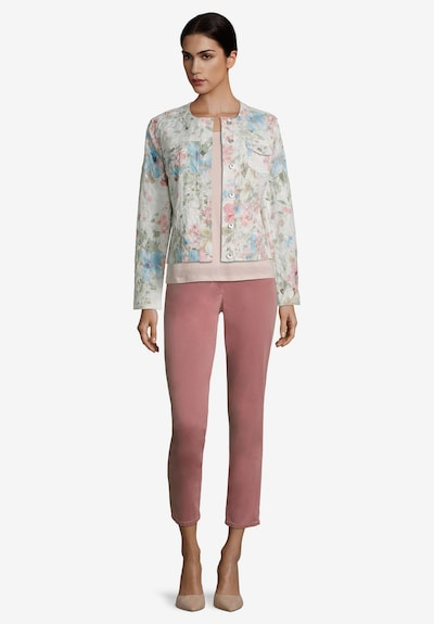 Betty Barclay Casual-Jacke langarm in creme / rosé: Frontalansicht