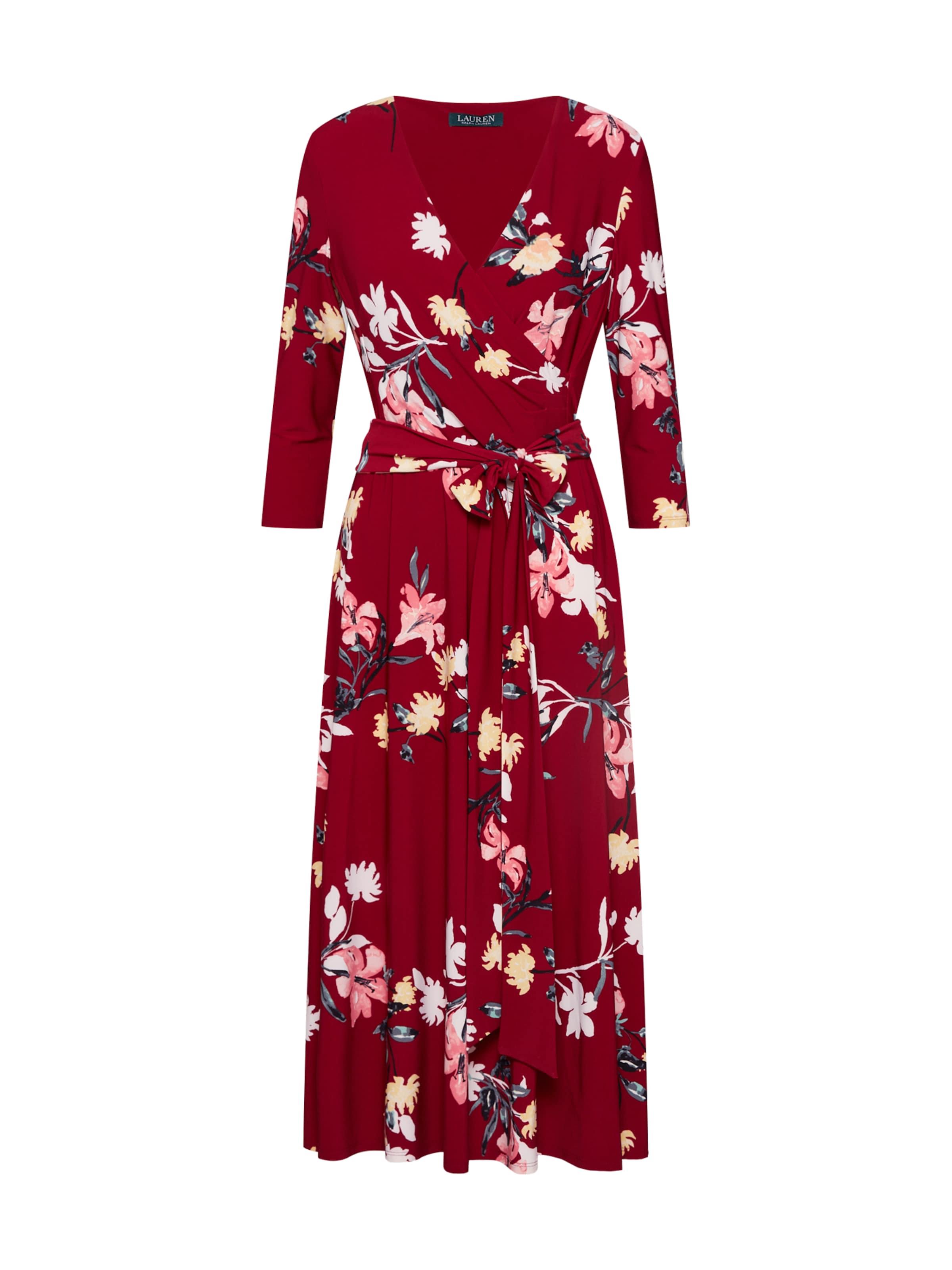 Ralph Kleid 'carlyna 4 In 3 Dress' MischfarbenWeinrot Sleeve day Lauren qSUzMpV