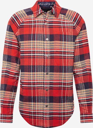 SCOTCH & SODA Flanellhemd in beige / rot / schwarz, Produktansicht