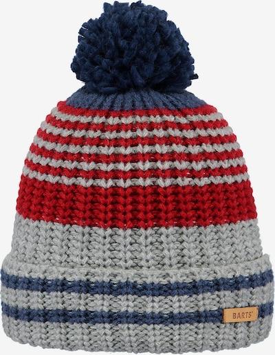 Barts Mütze in navy / grau / blutrot, Produktansicht