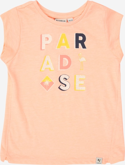 GARCIA T-Shirt in gelb / koralle / lachs / weiß, Produktansicht