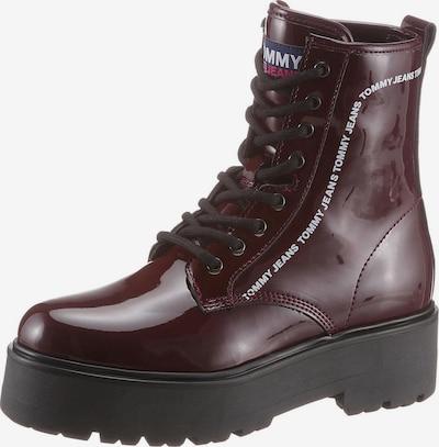 Tommy Jeans Bottines à lacets en rouge foncé, Vue avec produit
