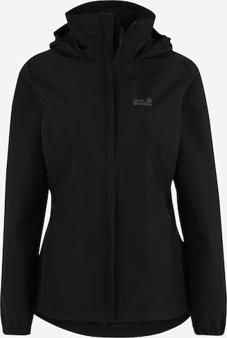JACK WOLFSKIN Outdoor Jacket 'STORMY POINT' in Black