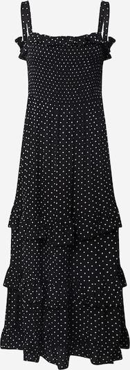 Dorothy Perkins Kleita 'Spot Frill Shirred Maxi Dress' pieejami melns, Preces skats