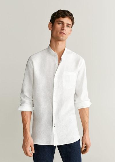 MANGO MAN Hemd in weiß: Frontalansicht