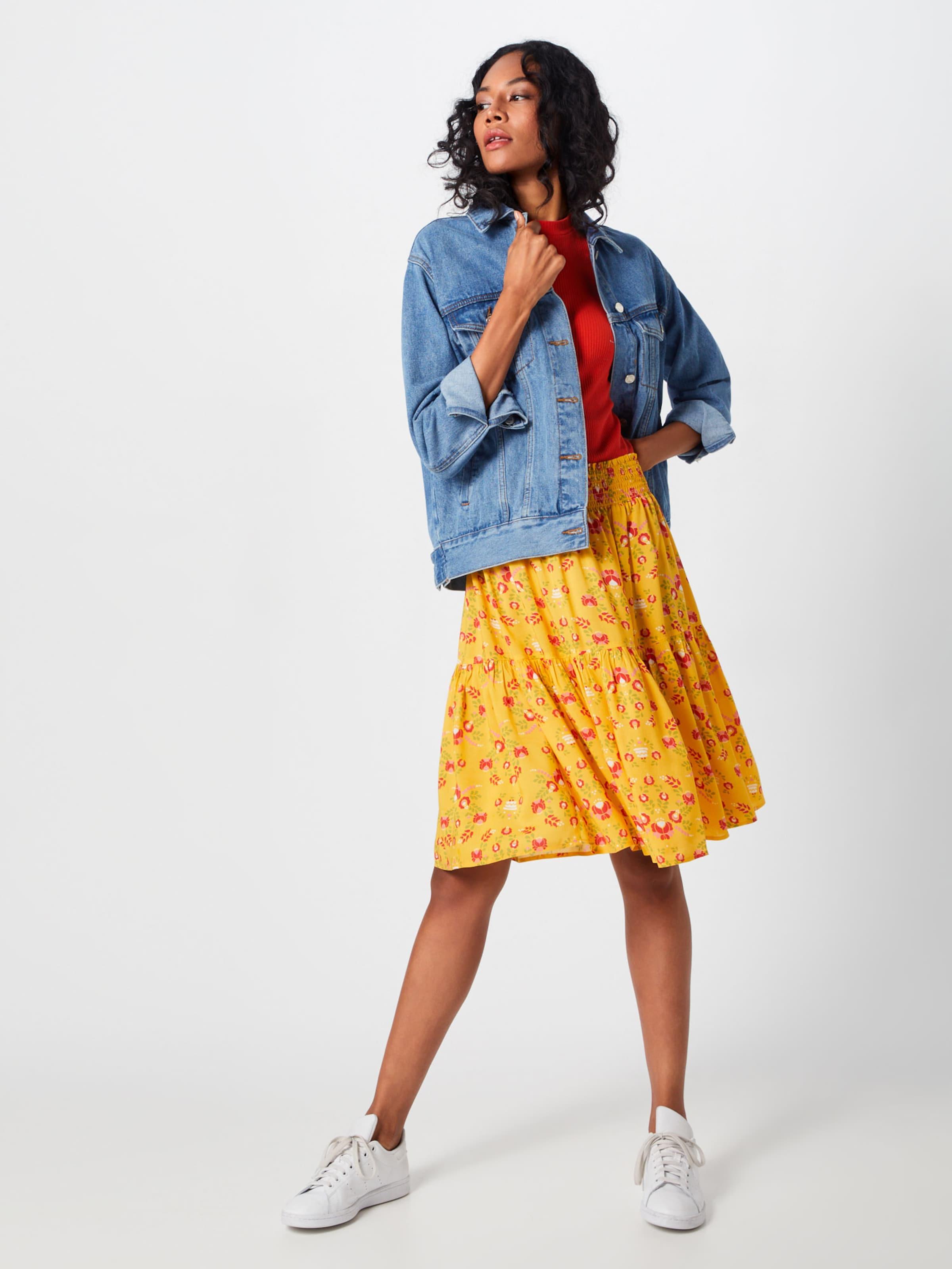Skirt' Jupe 'wanderwirbel JauneRouge Blutsgeschwister En 4qR5AjLc3