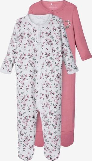 NAME IT Schlafanzug in grün / rosé / weiß, Produktansicht