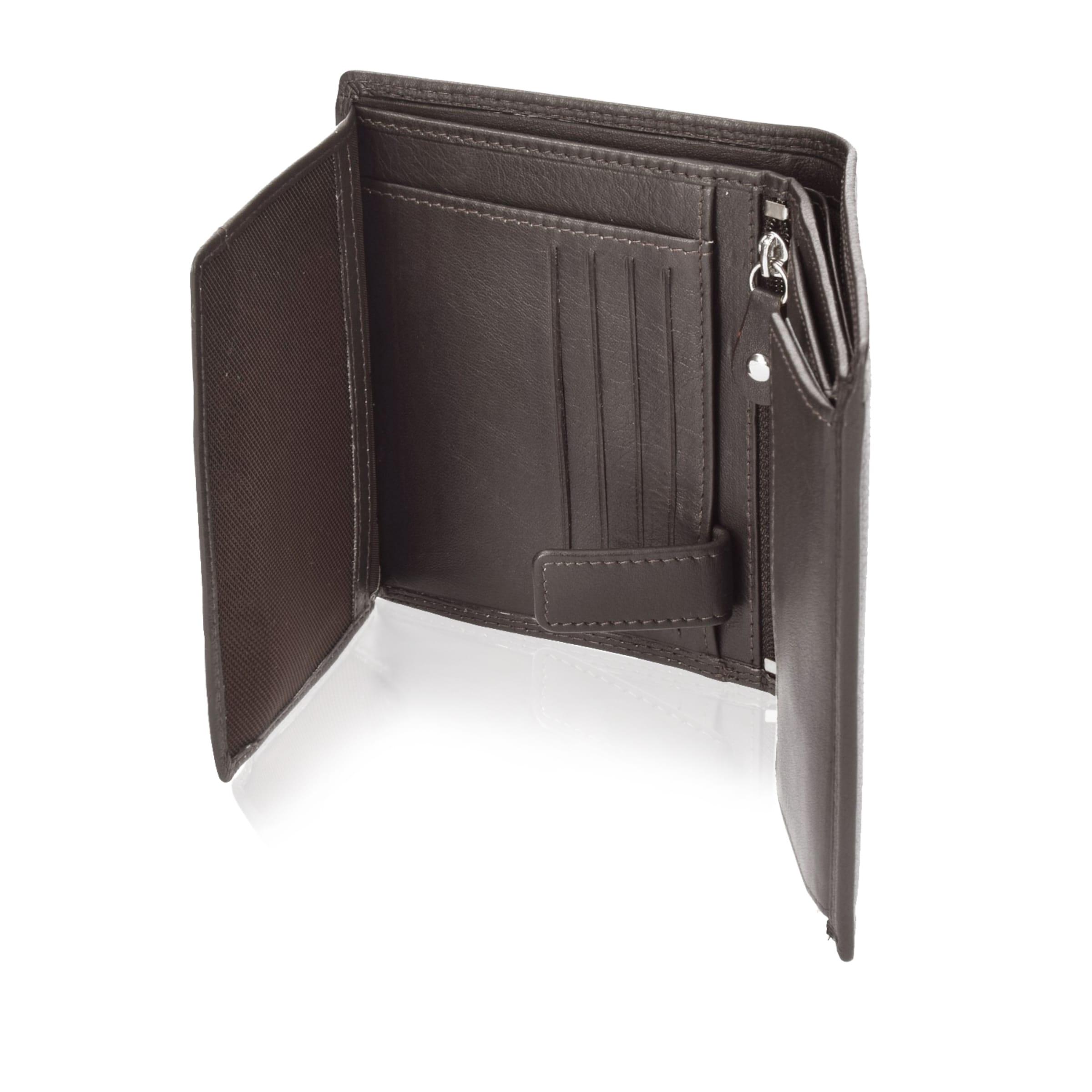 Mit Geldbörse Klappfach Reißverschlussfach Leder Und 78020 Cm 10 In Samsonite 5 Hochformat Dunkelbraun rtsChQdx
