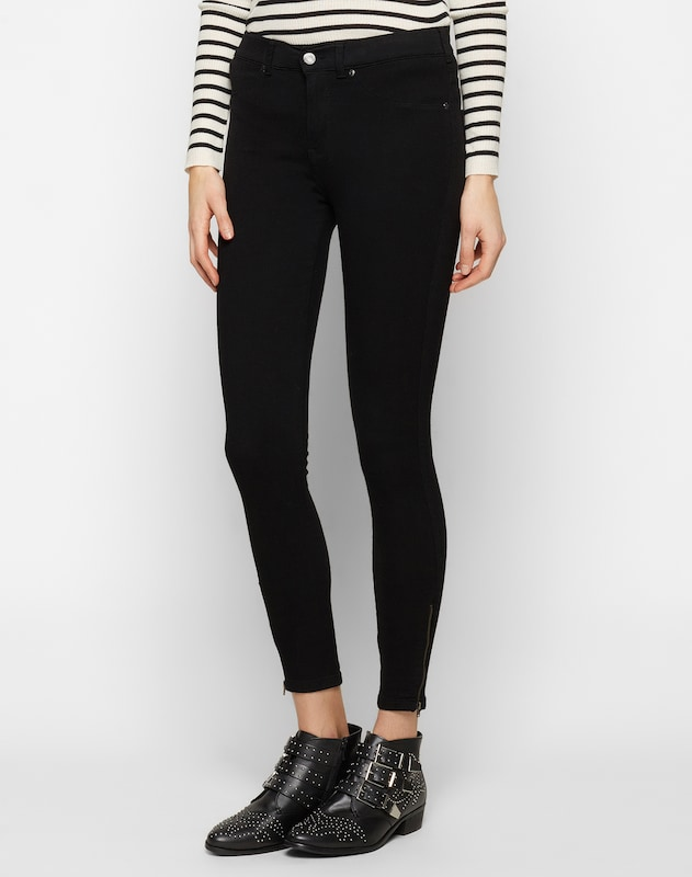 Dr. Denim 'Domino' High Waist Jeggings in schwarz, Modelansicht