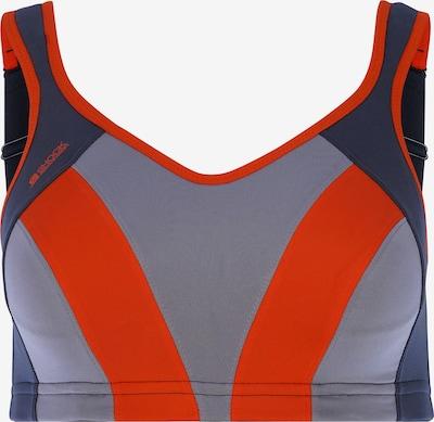 SHOCK ABSORBER Sport-BH in grau / dunkelorange / grenadine, Produktansicht