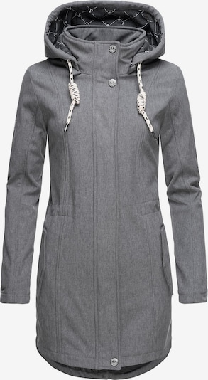Peak Time Softshelljacke 'L62097' in grau, Produktansicht