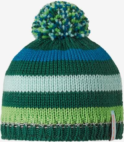 STÖHR Mütze 'KENDO' in blau / grün, Produktansicht