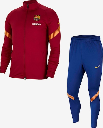 NIKE Trainingsanzug 'FC Barcelona' in blau / orange / kirschrot, Produktansicht