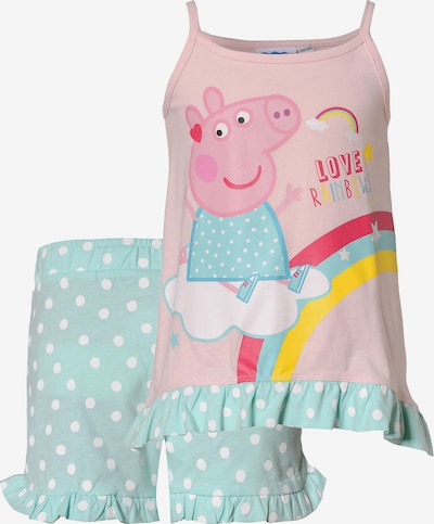 Peppa Pig Schlafanzug in türkis / mischfarben / rosa, Produktansicht