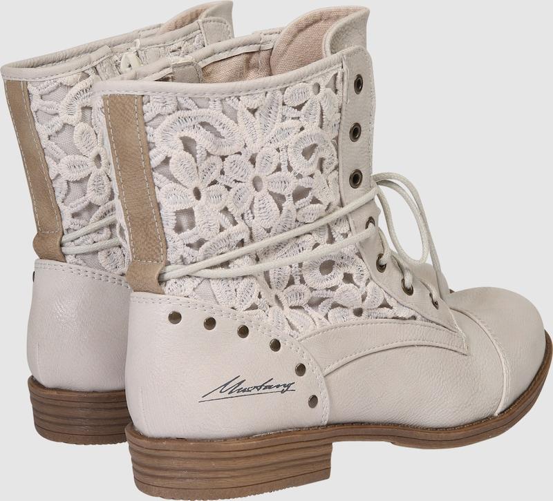 Haltbare Mode billige getragene Schuhe MUSTANG | Stiefelette 'Macrame' Schuhe Gut getragene billige Schuhe 12b1db
