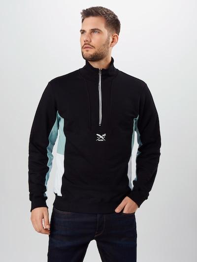 Iriedaily Sweatshirt ' Court Troyer ' in schwarz: Frontalansicht