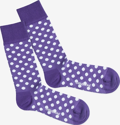 DillySocks Socken 'Purple Dots' in lila / weiß, Produktansicht