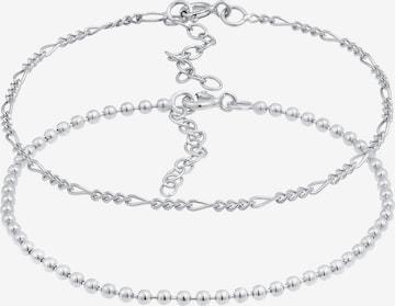 ELLI Armband Figaro, Kugel in Silver