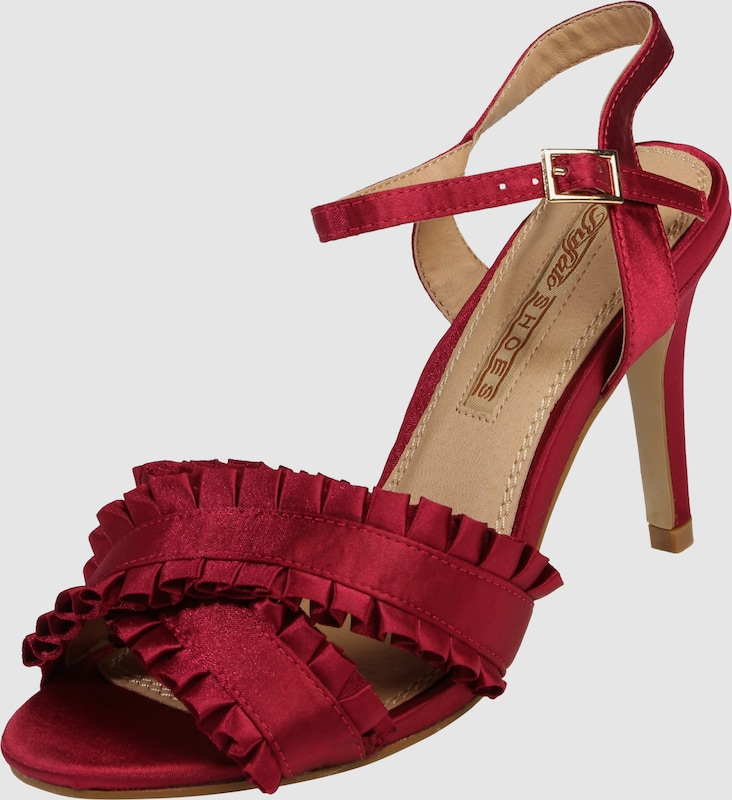 Buffalo Strappy Sandals With Ruffles