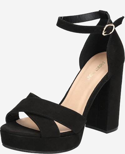 ABOUT YOU Strap sandal 'Carina' in black, Item view